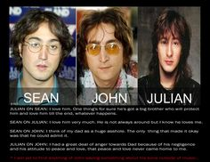 Sean, John & Julian Lennon...The Late Beatles With His Two Sons On Either Side...