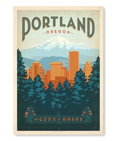 One of my favorite cities in the world. :: 'Portland Oregon' Wall Art