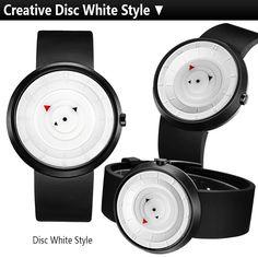 d647769a9a0 Pánské bílé hodinky s originálním ciferníkem bez ručiček + POŠTOVNÉ ZDARMA  Na tento produkt se vztahuje