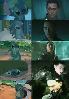 Awwww... Stitch and Loki mash-up meme