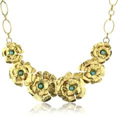 Katch by Kathy Flesch 24k Gold Plated Flowers and Turquoises Necklace Katch by Kathy Flesch. $120.99. Made in Colombia. Necklace made of flowers and turquoise beads. Save 52% Off!