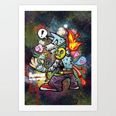 Wolf Man Art Print by HOOKEEAK - $18.00