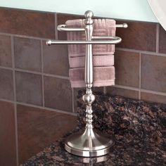 Ridge Shape Countertop Towel Bar   Brushed Nickel