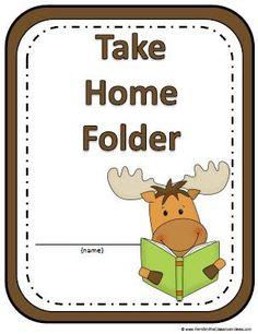Fern's Freebie Friday ~ A Moose Is Loose Daily Work Folder Covers - Fern Smith's Classroom Ideas! Fun Classroom Activities, Classroom Freebies, Classroom Themes, Classroom Organization, Book Activities, Classroom Management, Folder Organization, Take Home Folders, Work Folders
