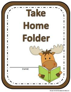 Fern's Freebie Friday ~ A Moose Is Loose Daily Work Folder Covers #backtoschool $0 www.FernSmithsClassroomIdeas.com