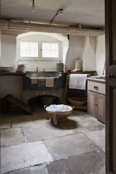 The Pantry at Wimpole Hall, Cambridgeshire. Beautiful rustic laundry room #Home #decor #ideas