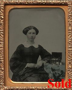 Dennis Waters, Fine Daguerreotypes- very very nice sewing box she has with her.