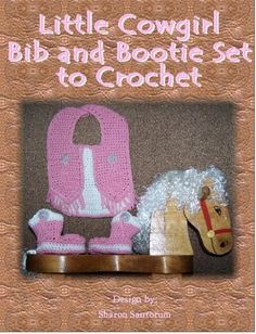 Cow Girl  Bib and Bootie Set | Craftsy