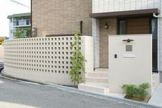Front Gates, Entrance Gates, Interior Exterior, Exterior Design, Breeze Block Wall, Modern Fence Design, Yard Privacy, Front Gate Design, Dream House Interior