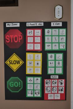 Zones of Regulation idea. Great article. The rules should be stated in the positive, what the kid should do, such as use nice hands.