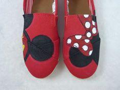 Custom Hand Painted Shoes -Mickey and Minnie Ears