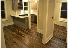 reclaimed oak in mod kitchen