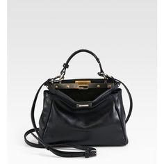 Emma Roberts style. Fendi Peekaboo Mini Satchel. View this product here http://wheresthatstyle.com/products/12350-fendi-peekaboo-mini-satchel