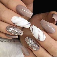 Ideas Nails Design Summer Acrylic Marble For 2019 Different Nail Designs, New Nail Designs, White Nail Designs, Ombre Nail Designs, Acrylic Nail Designs, Art Designs, Acrylic Nails, Marble Nails, Design Ideas
