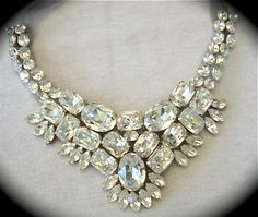 Wedding Necklace Swarovski Bridal Statement by TheCrystalRose