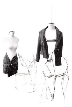 Fashion Sketchbook - fashion design work in progress, research and sketches; fashion portfolio // Alexandra Baldwin