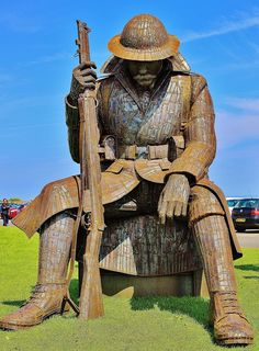 "Tommy, a 9ft sculpture of a World War One soldier, officially called Eleven ""O"" One, is locally nicknamed Tommy. The amazing work of Ray Lonsdale, of South Hetton."