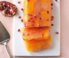 Citrus Pomegranate Terrine. More elegant than a Jell-O mold, this terrine shows off the beauty of fresh winter fruit.