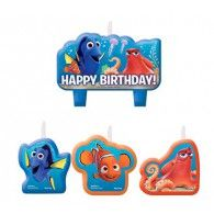 Finding Dory Mini Candles Set Happy Birthday, Pkt4, $14.90, A171594