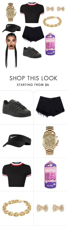 """""""ROCK WITH ME~TREVOR JACKSON"""" by princetonwifey56 ❤ liked on Polyvore featuring adidas, NIKE, Michael Kors, UNIF and Calvin Klein"""