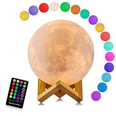 Colors LED 3D Print Moon Light Lamps for Kids Mood Light, Night Light, Light Led, Moon Light Lamp, Jellyfish Lamp, Teenage Girl Gifts, 3d Printing Technology, New Year Gifts, 30 Gifts