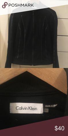 Calvin Klein Lightweight Jacket Barely worn, funky design but warm and flattering. Tons of life left! Calvin Klein Jackets & Coats Blazers