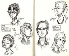 nanowrimo characters.sketching characters.... great idea... why didn't I think of this before?
