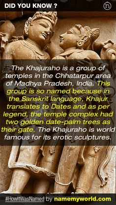 So how will you name your baby? Hint : Use our apps > bit.ly/NMWiphone / bit.ly/NMWandroid  #HowItWasNamed #Khajuraho