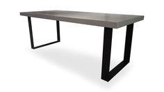Table béton ciré ultra leger - pied acier - PLACE DECO