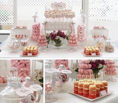 TIPS CANDY BAR PERFECTA: candy bar, mesa de dulces, dessert table, para bodas, comuniones, bautizos, empresa, eventos,... #Candybar #rosayblanco #bautizo #Pinkandwhite www.sweetemotion.es