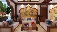 deco chambre bord de mer style-maroc