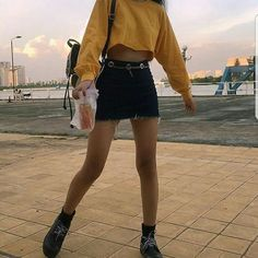 Goals - - #aestheticstuff #aesthetictumblr #follow4follow #likeforlike #honeyyellow #miniskirt #drink#outfits#outfit#tumblr#aesthetic#fashion - Follow for more fashion and makeup inspo to spice up your socials Trend Trendy Outfits Clothes Style