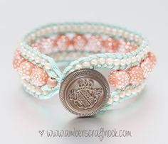 mint coral bracelet up-close