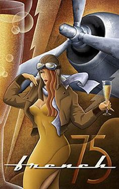 French Art Deco Poster Airplane Female Pilot,pined from andrea hoffman