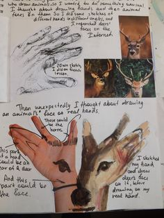 Love the fluid drawing on this sketchbook page - A Level Art by Nata