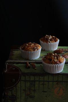 Muffins de Dulce de Leche, Coco y Nueces Pecana