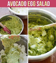 Avacado Egg Salad Recipe // Only 250 Calories! Could omit mayo (replace with Greek yogurt) to make it clean!