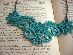 I think I can make a bib necklace like this one! Ruth Venice Lace Necklace. #jewelry #fashion