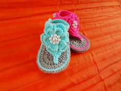 crochet baby sandals , Crochet baby flip flop , baby shoes, baby slipper , for baby 0-3 , 3-6 , 6-12 months