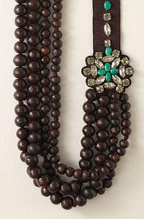 Favorite statement necklace. I have the white one. Want the brown. Stella and Dot Sayulita Statement Necklace in Brown