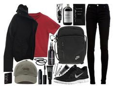 """""""whatever this is"""" by velvet-ears ❤ liked on Polyvore featuring NIKE, Acne Studios, dVb Victoria Beckham, MAC Cosmetics, Vans, NARS Cosmetics, Make, Cleanse by Lauren Napier, Sort of Coal and H&M"""