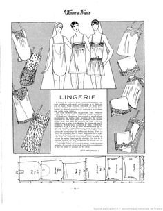 Lingerie (La Femme de France 19/08/1928)
