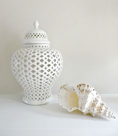 Temple Jar White by Hamptons Style