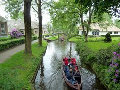 Giethoon Netherland, a dutch town access by old worn canals or foot.