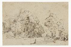 De Amstelveenseweg buiten Amsterdam, Rembrandt Harmensz. van Rijn, 1660 - 1664