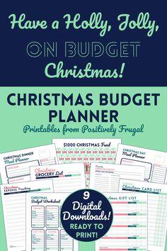 Christmas Budget Planner Kit Christmas Gift List Xmas Card   Etsy