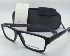 82225dc579d Details about New EMPORIO ARMANI Rx-able Eyeglasses EA 3013 5102 54-16 140  Black on Grey Frame