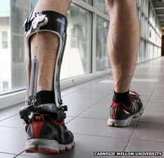 "Engineers create unpowered exoskeleton ""boots"" that use a spring and a ratchet to make human walking more efficient. Assistive Technology, Medical Technology, Wearable Technology, Technology Gadgets, Science And Technology, Science News, New Gadgets, Future Tech, Walking"