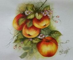 Decoupage, Rose, Painting, Vintage, Coloring, Apple Painting, Dish Towels, Fruits And Vegetables Pictures, Kitchen Fabric