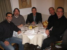Wayne Youkhana (CLIO), James Maltby, Karl Vontz (CLIO), Ian Tait and Terry Krejzl of Thoughtbubble